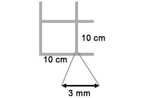 Draadmat verzinkt 200x100 cm - 100x100x3 mm