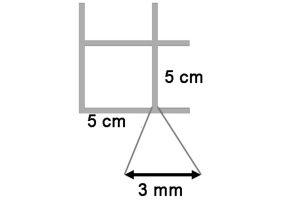 Draadmat verzinkt 200x100 cm - 50x50x3 mm