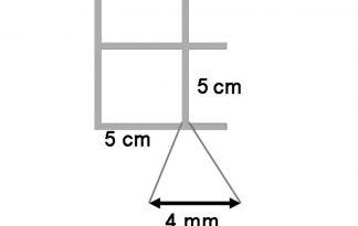 Draadmat verzinkt 200x100 cm - 50x50x4 mm