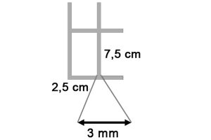 Draadmat verzinkt 200x100 cm - 75x25x3 mm