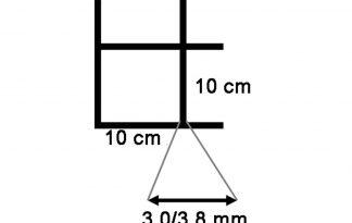 Draadmat zwart 200x100 cm - 100x100x3,0/3,8 mm