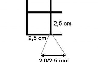 Draadmat zwart 200x100 cm - 25x25x2,0/2,5 mm