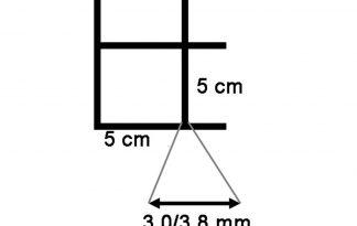 Draadmat zwart 200x100 cm - 50x50x3,0/3,8 mm