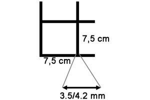 Draadmat zwart 200x100 cm - 75x75x3,5/4,2 mm