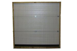 Draadpaneel met frame - zijwand vierkant