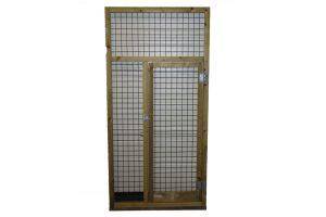 Draadpaneel met frame - zijwand met deur