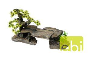EBI Aqua Della stenen brug met bonsai