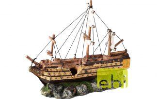 EBI Aqua Della Decor scheepswrak zeilboot