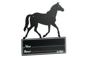 Ekkia paarden silhouet naambord