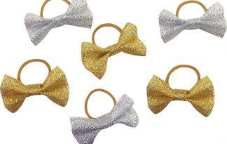 Equi-Thème vlecht strikjes glitter
