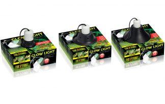 Exo Terra Glow Light klemlamp met glow reflector porselein