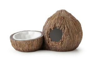 Exo Terra kokosnoot waterschaal & schuilgrot