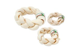 Farm Food Rawhide Dental Braid Donut
