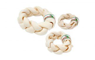 Farm Food Rawhide Dental Braid Donut