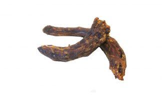 Gedroogde ganzennekken zijn een heerlijke snack voor je hond. Een 100% natuurlijk product afkomstig van de gans. Naast lang kauwplezier, zal dit product ook bijdragen aan een gezond en sterk gebit van je hond.