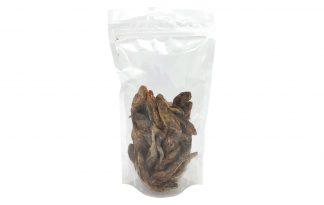 Gedroogde sprot zijn een heerlijke beloning voor je hond. Een 100% natuurlijke snack van de sprot vis. De sprot zit boordevol gezonde vetten en is bovendien makkelijk om te geven. Ideaal om te geven tijdens een training.