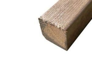 Geïmpregneerd houten balken 70 x 70 mm