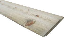 Geïmpregneerd houten rabatdelen