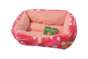 Hamsterdivan ruit roze