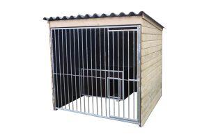 Hondenkennel hoog model betonplex 200 cm