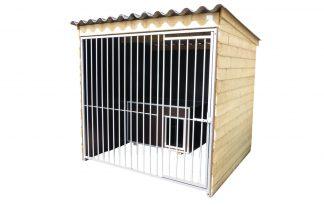 Hondenkennel hoog model betonplex 200 cm - 300