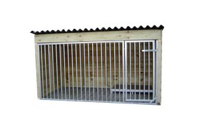Hondenkennel laag model Nature 150 cm