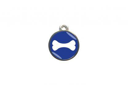 Hondenpenning bot classic is ideaal om aan de halsband of tuig te bevestigen. Wij graveren gratis jouw gegevens op de penning.