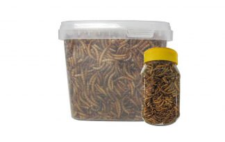 Huismerk gedroogde meelwormen