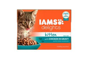 Iams Delights Multipack kitten met kip in saus