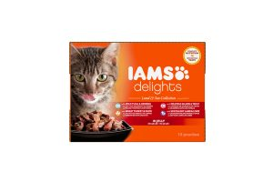 Iams Delights Multipack Land & Sea collection in gelei