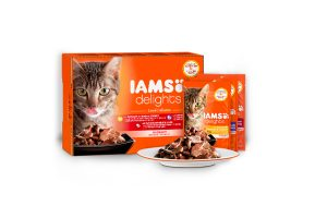 Iams Delights Multipack land collection in saus