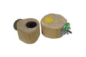 Jelly Cups fruitkuipjes houder Javaboom met vulling