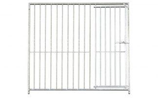 Kennelpaneel verzinkt 8 cm spijl - 300 cm - met deur