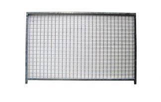 Kennelpaneel verzinkt laag model - gaas - 150 cm - zonder deur