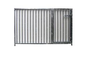 Kennelpaneel verzinkt laag model - spijlen - 150 cm - met deur