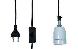Keramische fitting 250 Watt met kabel