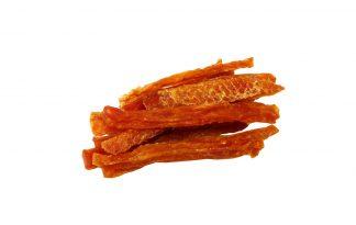 Kipfilet Strips zijn een heerlijke beloning voor je hond. Een 100% natuurlijke snack afkomstig van de kip. Een smakelijke snack voor jouw hond gemaakt van gedroogde kip.