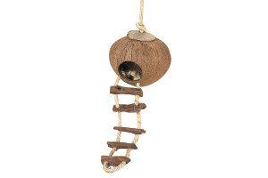 EBI Kokosnoothuisje met ladder en touw