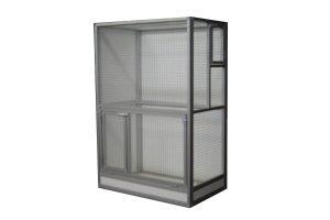 Maatwerk aluminium vogelkooi 01