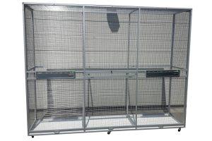 Maatwerk aluminium vogelkooi 05