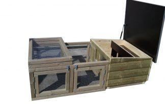 Maatwerk kippenbroedkooi met ren