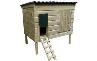 Maatwerk kippenhok met schuif en deur