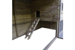 Maatwerk open kippenhok met ren en legbak