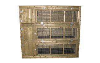 Maatwerk konijnenflat 3-laags XL