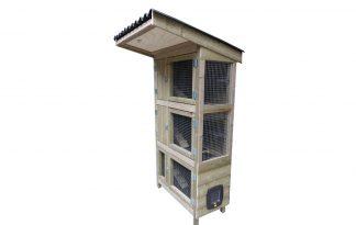 Maatwerk konijnenflat 3 verdiepingen in verbinding
