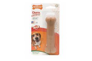 Het Nylabone kunstbot is een veilig nylon bot voor uw hond. De Dura Chew houdt uw hond lekker lang bezig.
