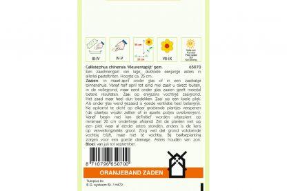 Oranjeband Zaden callistephus chinensis kleurentapijt gemengd