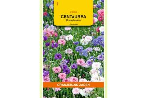 Oranjeband Zaden centaurea cyanus Korenbloemen gemengd