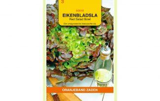 Oranjeband Zaden eikenbladsla Red Salad Bowl