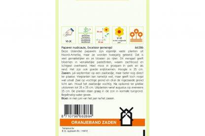 Oranjeband Zaden papaver nudicaule Excelsior gemengd
